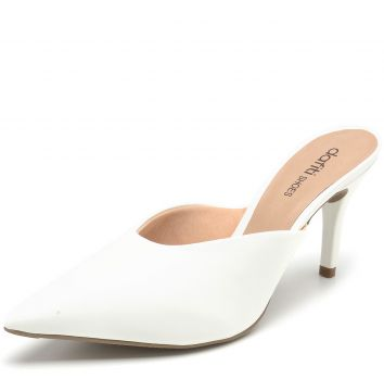 Scarpin DAFITI SHOES Mule Branco DAFITI SHOES