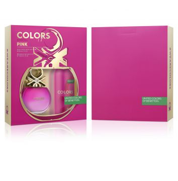 Kit Perfume 2 pçs Colors Pink Her 80ml Benetton Fragrances