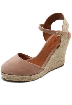 Sandália DAFITI SHOES Espadrille Marrom DAFITI SHOES