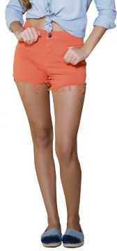 Short Young Style Jeans Premier Sarja Color Laranja Young S