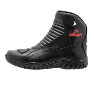 Bota Atron Shoes Motociclista Yamaha Preto Atron Shoes