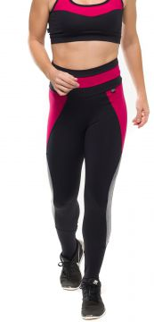 Calça Legging Sandy Fitness Flex Duo Amora Preto Sandy Fitn