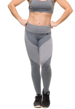 Calça Legging Sandy Fitness Athletic Cinza Sandy Fitness
