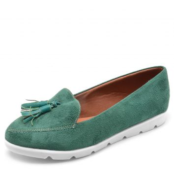 Mocassim DAFITI SHOES Tassel Verde DAFITI SHOES