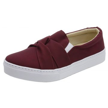 Tênis Casual Slip On Cintra Bordô Cintra