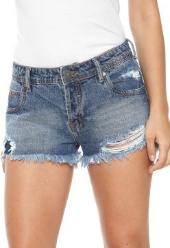 Short Jeans Triton Hot Pant Destroyed Azul Triton