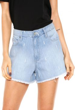Short Jeans Zoomp Reto Azul Zoomp