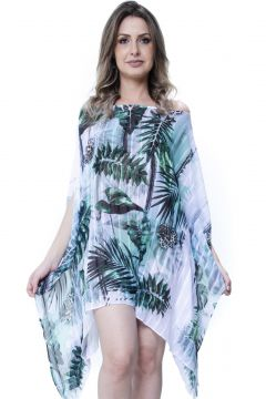 Kaftan 101 Resort Wear Vestido Floral Verde 101 Resort Wear