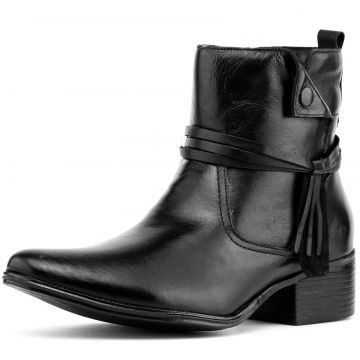 Bota Feminina Art Shoes Cano Curto 306M Preto Art Shoes