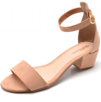 Sandália DAFITI SHOES Lisa Nude DAFITI SHOES