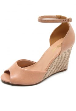 Sandália DAFITI SHOES Espadrille Nude DAFITI SHOES