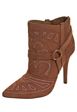 Ankle Boot Pesponto Marrom My Shoes