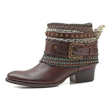 Bota Boho Chic Couro Charlotte Look Sioux Coffee CHARLOTTE