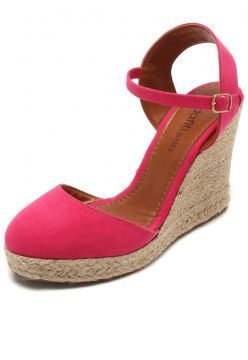 Sandália DAFITI SHOES Espadrille Rosa DAFITI SHOES