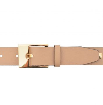 Cinto Corazzi Leather Deluxe Couro Spikes Nude Corazzi Leat