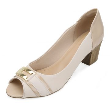 Peep Toe Lady Queen AM18-5504 Off-White-Nude Lady Queen