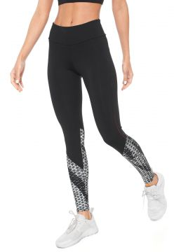 Legging BODY FOR SURE Estampada Preta BODY FOR SURE
