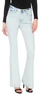 Calça Jeans Guess Flare Destroyed Azul Guess