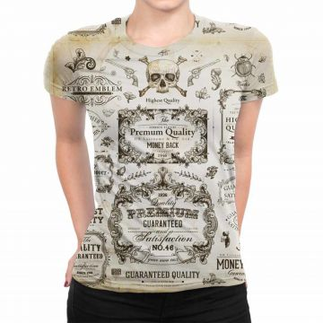 Camiseta Estampada Baby Look Over Fame Cinza Over Fame