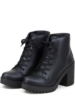 Bota Coturno Magi Shoes Tratorado Preto Magi Shoes