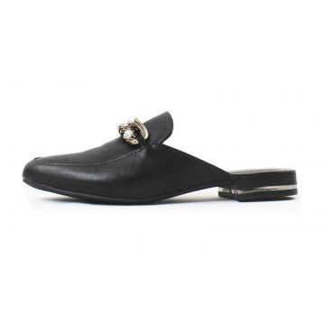 Mule Izzy Damannu Shoes Napa Preto Damannu Shoes