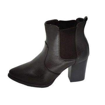 Bota Cano Curto Arrive Fashion Catarina Marrom Arrive Fashi