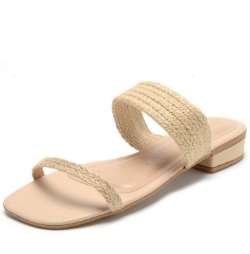 Tamanco DAFITI SHOES Tiras Nude DAFITI SHOES