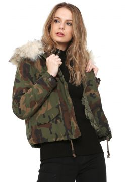 Jaqueta Only Camuflada Verde Only