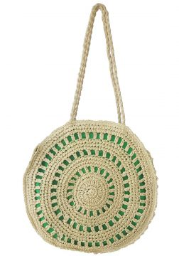 Bolsa Bag Dreams Redonda em Palha Verde Bag dreams