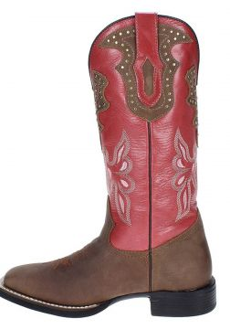 Bota Country West Country Marrom/Vermelho West Country