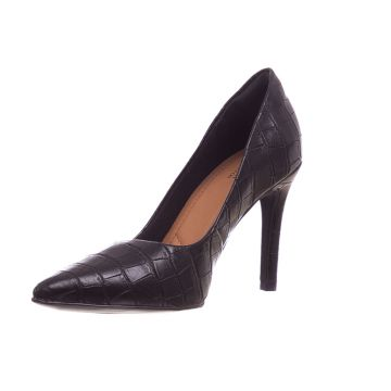 Scarpin Butique de Sapatos Croco Napa Preto Butique de Sapa