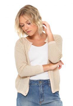 Cardigan MNG Barcelona Tricot Colmena Lurex Rosa MNG Barcel