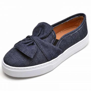 Tênis Casual Slip On Cristaishoes Jeans CRISTAISHOES