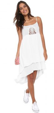 Vestido Hang Loose Curto Indian-an Branco Hang Loose
