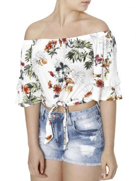 Blusa Cropped Autentique Branco Autentique