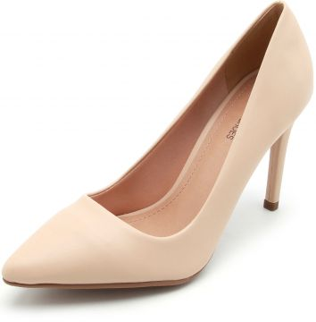 Scarpin DAFITI SHOES Liso Nude DAFITI SHOES
