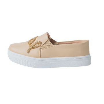 Tenis Hope Shoes Slipper Pedraria Bege Hope Shoes