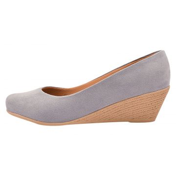 Sapato Chiquiteira Anabela Suede Jeans WLN Chiquiteira