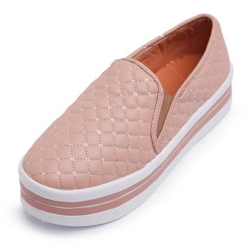 Tênis Casual Slip On CRISTAISHOES Nude CRISTAISHOES