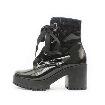 Bota Damannu Shoes Gwen Verniz Preto Damannu Shoes