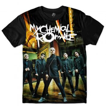 Camiseta BSC My Chemical Romance Sublimada Preto BSC
