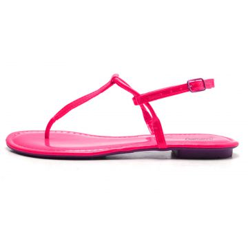 Rasteira Damannu Shoes Mia Rosa Neon Damannu Shoes