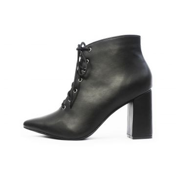 Bota Damannu Shoes Cano Curto Lady Napa Preto Damannu Shoes