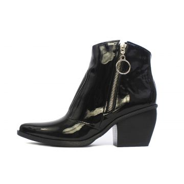 Bota Damannu Shoes Naomi Verniz Preto Damannu Shoes