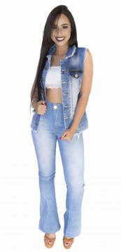 Colete Jeans MOMENTO JEANS Blogueira Azul MOMENTO JEANS