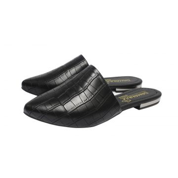 Mule Damannu Shoes Alyssa Croco Preto Damannu Shoes