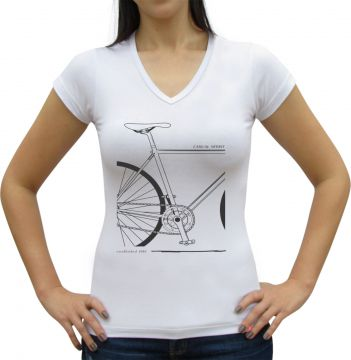 Camiseta Baby Look Casual Sport Quadro de Bike Casual Sport