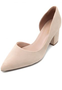 Scarpin DAFITI SHOES Camurça Nude DAFITI SHOES