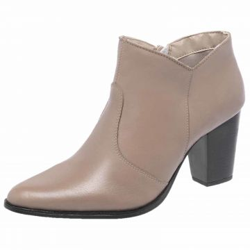 Bota Cano Curto Dr Shoes Nude DR Shoes