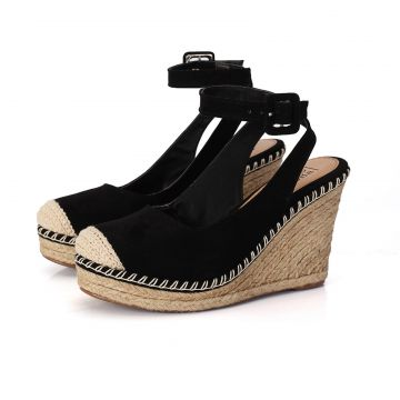Espadrille Connect Shoes Anabela Preto Connect Shoes